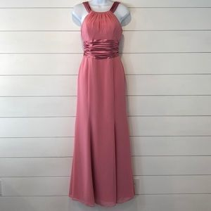 David's Bridal Maxi Gown, Rose Pink Color